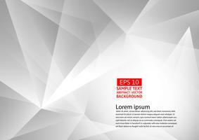 Abstrakter grauer und weißer geometrischer Hintergrund, Vektorillustration mit Kopienraum