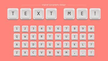Weiße Tasten Typografie