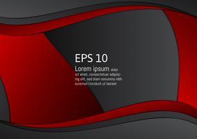 Modernes Design des abstrakten roten und schwarzen geometrischen Hintergrundes mit Kopienraum, Vektorillustration