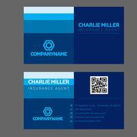 Färgglatt blått visitkort vektor