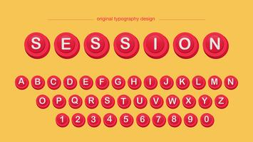 Röda Knappar Typografi vektor