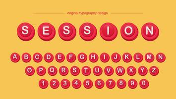 Rote Knöpfe Typografie