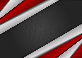 Modernes Design des roten und silbernen Farbgeometrischen abstrakten Hintergrundes mit Kopienraum, Vektorillustration