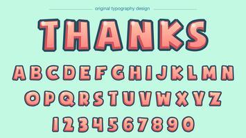 Komische hellrote Typografie