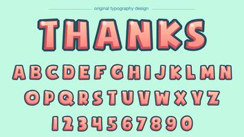 komisk ljusröd typografi vektor
