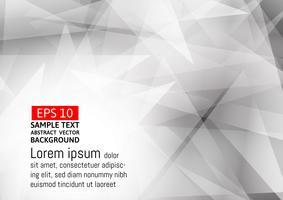 Grauer und weißer Farbpolygon-Zusammenfassungshintergrund, Vektorillustration eps10