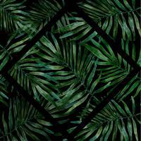 handgjord akvarell tropisk blad vektor