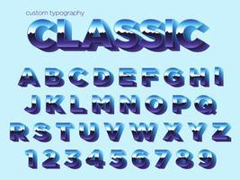 vintage ljus effekt typografi vektor