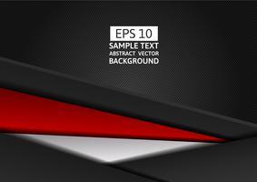 Modernes Design des rote und schwarze Farbgeometrischen abstrakten Vektorhintergrundes mit Kopienraum für Ihr Geschäft