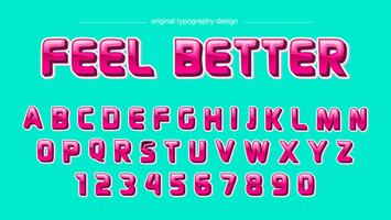 Glatte rosa mutige Typografie