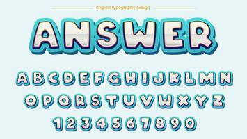 Blå fet Chrome-typografi vektor