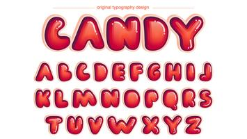 Red Rounded Comics Typografi vektor