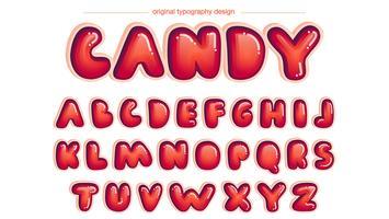 Rote gerundete Comic-Typografie