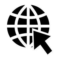 Gehen Sie zur Website-Internet-Ikonenvektorillustration