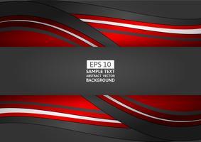 Roter und schwarzer geometrischer abstrakter Hintergrund mit Kopienraum, Vektorillustration