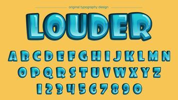 Comics-Blasen-Blau-Typografie vektor