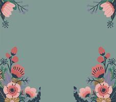 Buntes abstraktes Blumenmuster. Nahtloser Vektor Hintergrund.