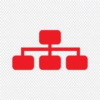 Einfache Diagrammdiagrammikonen-Vektorillustration