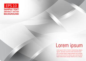 Geometrischer abstrakter Vektorhintergrund der grauen und silbernen Farbe, modernes Design vektor