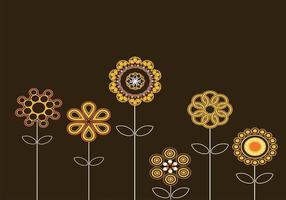 Abstrakte Sonnenblumen-Vektoren
