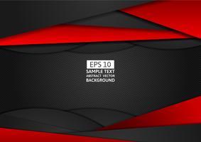 Modernes Design des roten und schwarzen geometrischen abstrakten Vektorhintergrundes mit Kopienraum für Ihr Geschäft