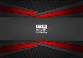 Modernes Design des roten und schwarzen geometrischen abstrakten Hintergrundes, Vektorillustration