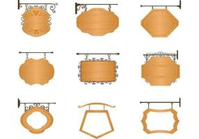 Holzschild Vektor Packung