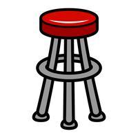 Schemel-Stuhl-Sitzmöbel-Illustration