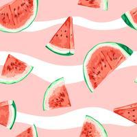 vattenmelon sömlös mönster illustration