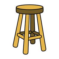 Schemel-Stuhl-Sitzmöbel-Illustration vektor