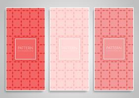 Sammlung themenorientierte Fahnendesigne der korallenroten Farbe