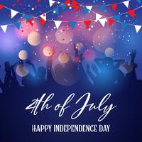 Partymasse auf einem Unabhängigkeitstaghintergrund am 4. Juli vektor