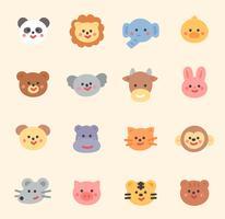 djur ansikte samling