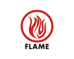 Feuer Flamme Logo Template-Vektor-Symbol Öl, Gas und Energie-Logo-Konzept vektor