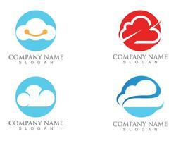 Cloud Logo Server Daten und Symbole Symbole