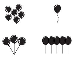 Flygande vektor festliga ballonger glänsande med glansiga ballonger för semester