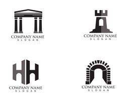 fästningslogo och symboler vektor