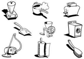Hand Drawn Household Vector Pack