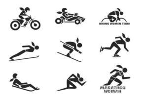 Sport-Vektor-Pack für verschiedene Frauen vektor