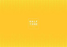 Sammanfattning av ljust prickmönster halvtons designkoncept gul bakgrund med platsfot text. Dekoration webbplats layout huvud och sidfot och broschyr, affisch, banner webb, kort, etc.