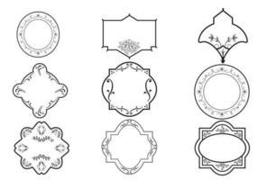 Dekorativ ram vektor och prydnadspaket