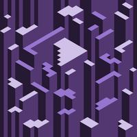 Mesmeriserande isometrisk geometriska mönster
