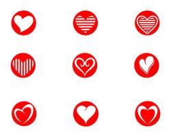 Kärlek Logo och symboler Vector Template icons app