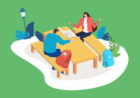 Gruppendiskussions-Vektor-Illustration