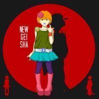 Japansk flicka ung geisha