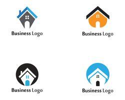 hem söt hemlogo och symboler ikoner mall vektor