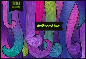 Mehrfarbiger Haar-Hintergrund horizontal vektor