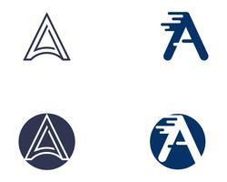 En logotyp Brev Business Template Vector ikon