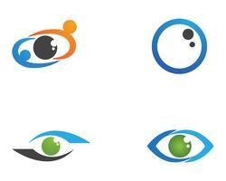Augenpflegelogo und Symbolschablonenvektor-Ikonen-APP
