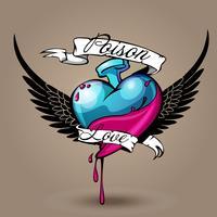 Kärleksförgiftning vektor